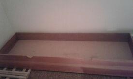 Big underbed wooden drawer