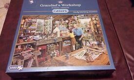 Jigsaw Puzzle. 'Grandad's Workshop'.