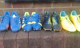 Boys/Adult Football Boots Adidas and Nike - sizes 8 to 9