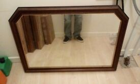 large mahogany mirror for sale £10