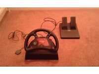 Playstation 1 & 2 steering wheel with pedals