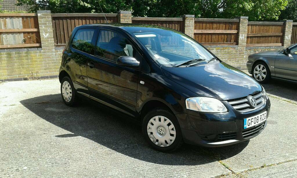 2008 vw fox 1 2 urban 55 black mot great runner 71k in. Black Bedroom Furniture Sets. Home Design Ideas
