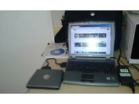 Laptop / netbook - Dell c400 - with XP, bag, charger, documents, utilities cd, disc drive