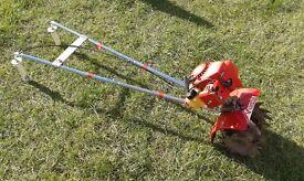 mantis rotavator / rotovator tiller rotivator 2 stoke petrol engine