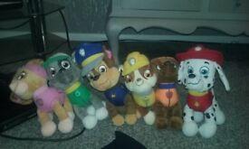 paw patrol teddy set