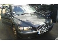 2001 Volvo S60 2.0 T S 4dr black manual BREAKING FOR SPARES