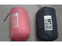 two single sleeping bags