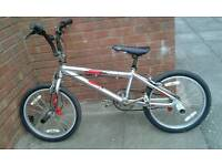 Magna silver and red bmx bike