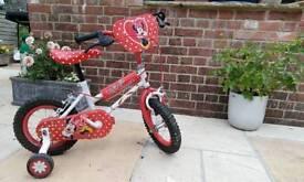 Girls 12 inch Minnie mouse bike