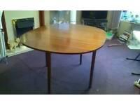 Vintage oval gate leg dining table