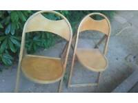 A pair of retro old chairs