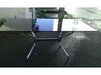 garden dining kitchen 6 -8 seater rectangular black glass top table 158 x 92 cm