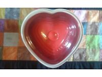 Le Creuset Heart Dish - unused wedding gift in wonderful condition