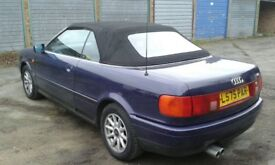 Audi convertible genuine mileage with full service history unmarked black leather interior