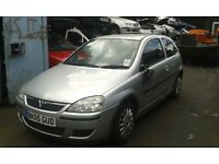 2005 Vauxhall Corsa C 1.2 16v SXi 80 3dr silver 157 2AU BREAKING FOR SPARES