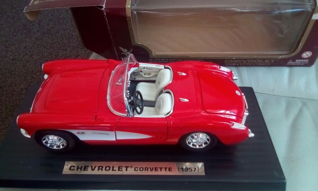 1 18 scale Chevrolet Corvette 1957 excellent conin Stanley, County DurhamGumtree - 1 18 scale Diecast model corvette 1957 in red excellent as new condition boxed box in excellent condition for age £20 I have many more listings for 1 18 scale cars check them out , discount for multiple buys if theres anything else you after ring me...