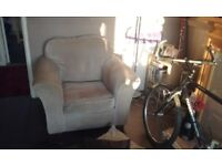 Two seater and chair john lewis sofa