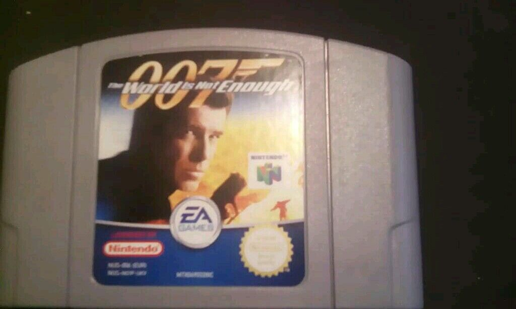 James Bond 007 The World Is Not Enough Game Cartridge For