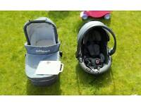 Out n about Carrycot & car seat