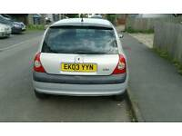 Renault clio 1.2 petrol 2003 very good condition inside and out low mileage for age