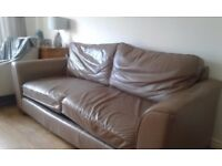 Marks and Spencer Leather Sofa and Chair