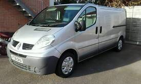 Renault trafic (LWB) silver (NO VAT) 2.0 dci turbo (NEW) engine 62k ago