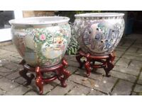 Japanese or Chinese Coy Carp/ Gold Fish Bowls