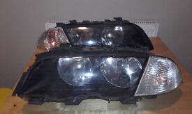 BMW E46 3 SERIES SALOON/TOURING N/S & O/S HEADLIGHTS COMPLETE & SIDE INDICATORS