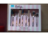 Amefa Harley Stainless Steel Cutlery Boxed Set 44 pieces (2 available) Unused.