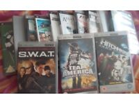 Psp with charger, case and 32mb memory card Ten games Three movies