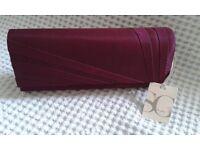 Burgundy BHS Clutch Bag BNWT. (Ideal for Weddings/Prom JUST £4)