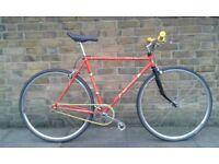 Vintage Singlespeed. Orange Elswick in good condition