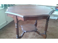 Small, pretty, wooden side table