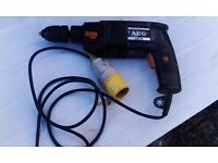 a e g 110v hammer drill, used for sale  Hampshire