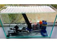 50l Fish Tank/Aquarium with heater, light, and other accessories included