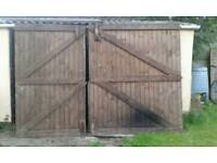 Solid, reclaimed timber garage doors/ stable gates