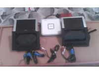 Philips 2Xlcd headrest screens & portable dvd player