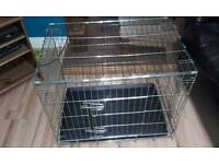 Medium sized 2 door dog crate