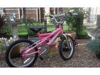 girls pink mountain bike 4-7 years