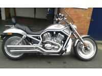 harley davidson v rod in silver limited edition