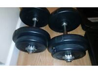 LONSDALE Dumbbell Set 15 Kgs with solid plastic package box