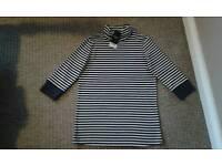 Next brand new blue/white stripe top - size 12