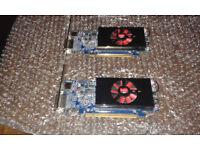 2x AMD Radeon HD 7570 1GB GDDR5 PCIe x16 DVI DisplayPort Video Graphics Cards