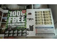 set of 20 paintball tickets.