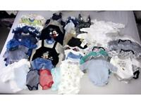 Baby Boy Clothes 0-3 months Bundle 52 items