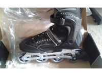 In line skates New with knee, elbow, wrist pads
