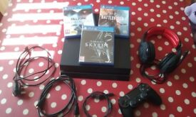 Ps4 1tb classic with 3 games.full working order.excellent condition
