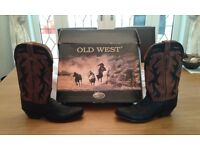 Ladies Old West Cowgirl Boots Size 8.