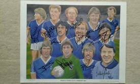 Ipswich Town signed limited edition print.