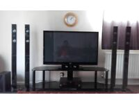 tv with home cinema with stand